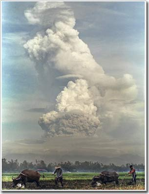 Sự mờ tối toàn cầu có liên quan đến sự phun trào núi lửa