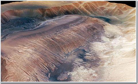 Lần đầu tiên công bố hình ảnh 3 chiều bề mặt sao Hỏa