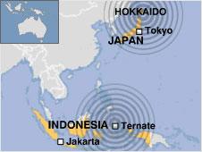 Hai trận động đất mạnh làm rung chuyển châu Á