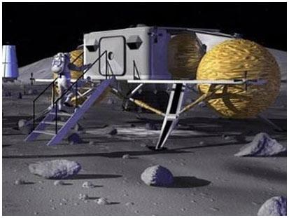 Xây căn cứ bằng bụi Mặt trăng