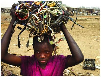 Đổ rác thải điện tử sang nước nghèo