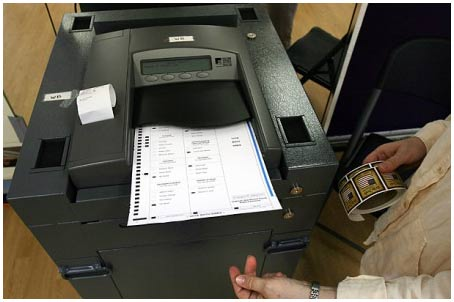 Máy kiểm phiếu trong bầu cử Mỹ