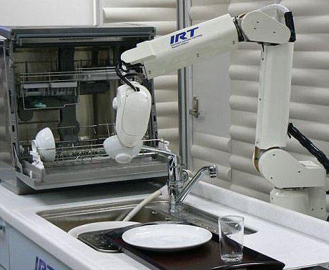 Robot giúp rửa chén dĩa