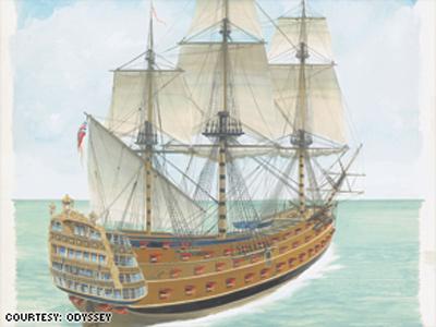 Công ty săn kho báu tìm ra chiếc tàu đắm huyền thoại