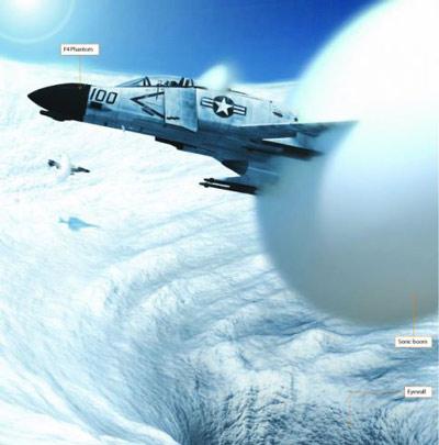Thử nghiệm mô hình dập tắt bão bằng chiến đấu cơ