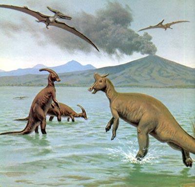 Vi khuẩn và hồ mặn giúp khủng long làm bá chủ