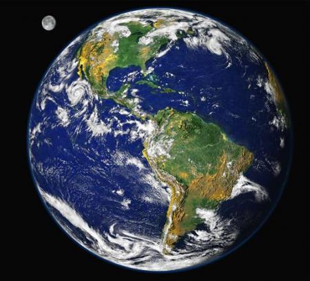 Toàn cảnh trái đất nhìn từ vũ trụ