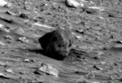 """Phát hiện """"hộp sọ người ngoài hành tinh"""" trên sao Hỏa"""