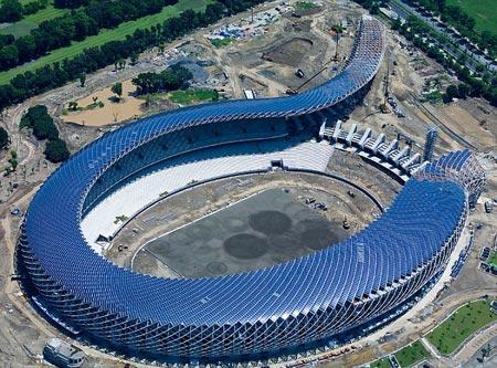 Sân vận động tạo ra điện nhờ mặt trời