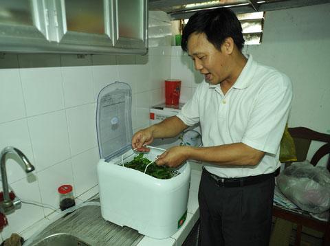 Làm sạch rau bằng tia nước mạnh 400 km/h