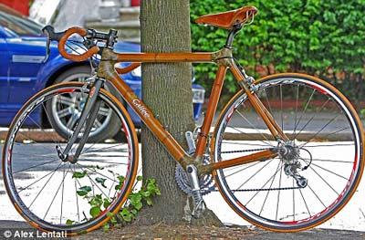 Xe đạp làm từ tre có giá 'cắt cổ'
