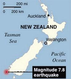 Động đất gây sóng thần tại New Zealand