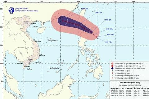 Ảnh hưởng bão, vùng biển từ Bình Thuận đến Cà Mau gió giật cấp 9