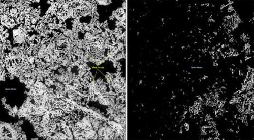 Mỹ tiết lộ những hình ảnh băng tan ở Bắc cực