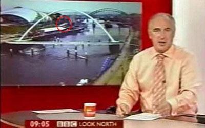 Vật thể bay bí ẩn xuất hiện trên truyền hình