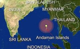 Động đất tấn công Ấn Độ Dương