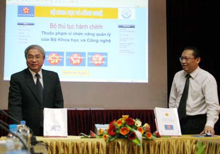 Bộ KH&CN minh bạch hóa thủ tục hành chính