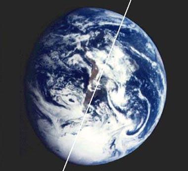 Trái đất nghiêng hơn vì biến đổi khí hậu