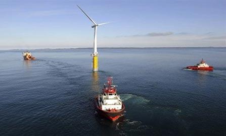 Trạm phát điện sức gió kiểu nổi đầu tiên trên thế giới