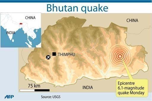 Động đất làm 11 người thiệt mạng tại Bhutan