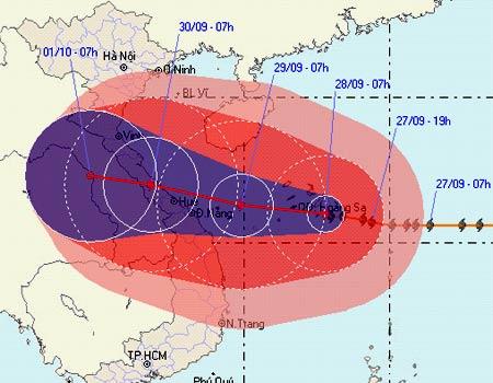 Đêm mai bão cấp 12 đổ bộ vào miền Trung