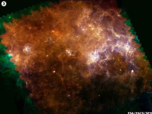 Herschel hé mở những góc khuất của dải Ngân hà
