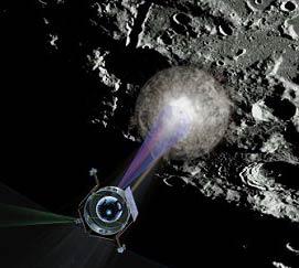 """NASA """"bỏ bom"""" Mặt trăng"""