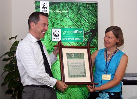 Đại sứ quán Anh đạt mô hình 'Văn phòng xanh' của WWF