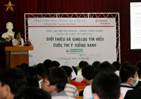Khuyến khích sinh viên tham gia ý tưởng bảo vệ môi trường