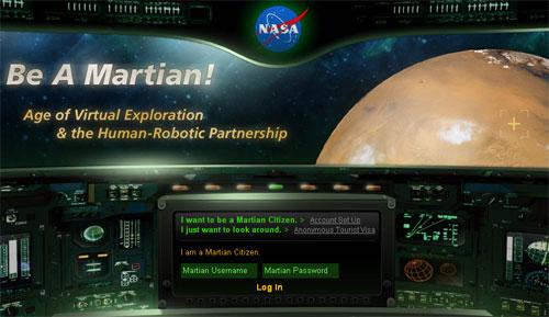 Khám phá sao Hỏa qua game online