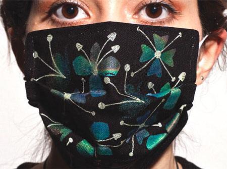 Khẩu trang đổi màu phát hiện cúm
