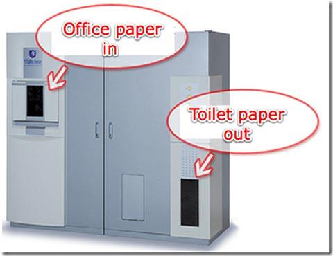 Biến rác thải văn phòng thành giấy vệ sinh