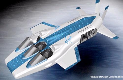 """""""Máy bay dưới nước"""" thám hiểm đáy đại dương"""