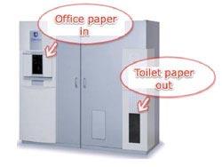 Biến giấy thải văn phòng thành giấy vệ sinh