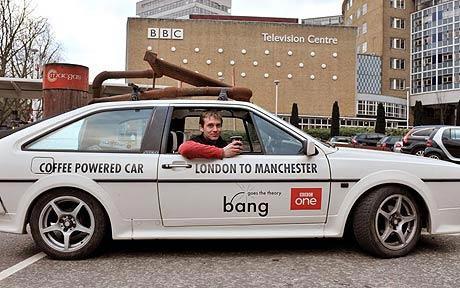 Xe hơi chạy bằng bã cà phê