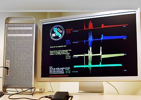 Dùng laptop để cảnh báo động đất