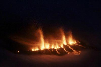 Núi lửa tại Iceland bừng tỉnh sau 200 năm