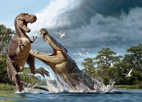 Cá sấu ăn thịt khủng long