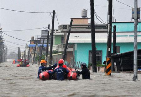 Nước biển đe dọa Đài Loan