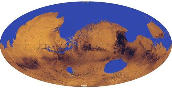 Một phần ba diện tích sao Hỏa từng là biển?