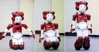 Robot EMIEW2 kiểm soát tư thế như người