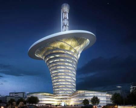 Tòa nhà loa kèn xanh nhất Trung Quốc