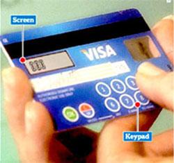 Thẻ tín dụng kèm bàn phím để chống gian lận