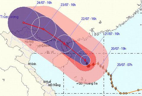 Bắc Bộ sẽ có mưa to do bão