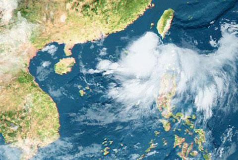 Biển Đông đón áp thấp nhiệt đới
