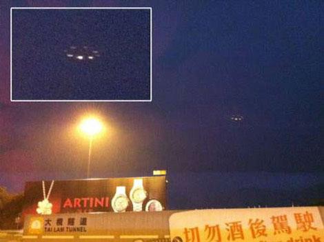 Hồng Kông: UFO xuất hiện cùng sấm sét