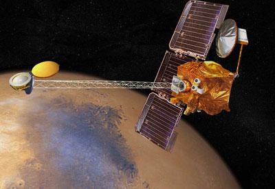 Tàu vũ trụ bay quanh sao Hỏa lâu nhất