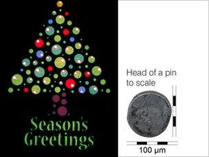 Thiệp Giáng sinh nhỏ nhất thế giới