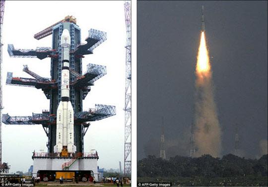 Ấn Độ: Tên lửa mang vệ tinh phát nổ