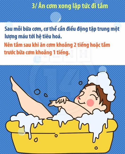 """Những sai lầm """"nhất định phải tránh"""" khi tắm vào mùa đông"""